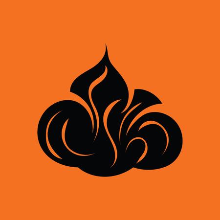 Shaving foam icon. Orange background with black. Vector illustration.