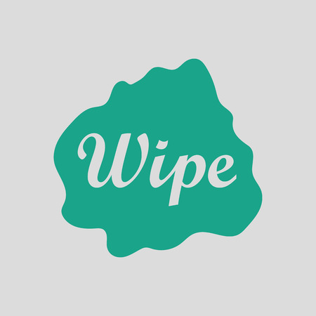wipe: Wipe cloth icon. Gray background with green. Vector illustration.