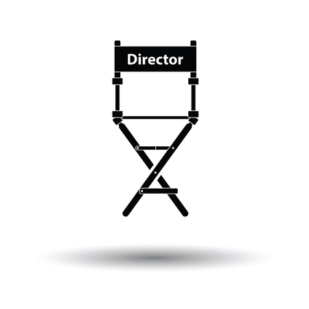 Director chair icon. White background with shadow design. Vector illustration. Illustration