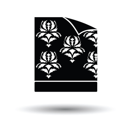 paperhanging: Wallpaper icon. White background with shadow design. Vector illustration.
