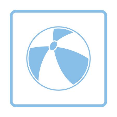 rubber ball: Baby rubber ball icon. Blue frame design. Vector illustration.