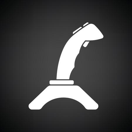 joypad: Joystick icon. Black background with white. Vector illustration.