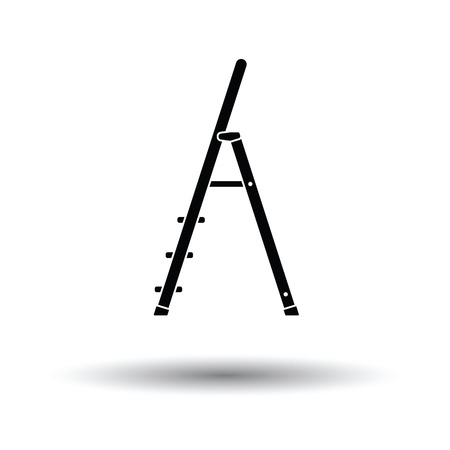 clambering: Construction ladder icon. White background with shadow design. Vector illustration. Illustration