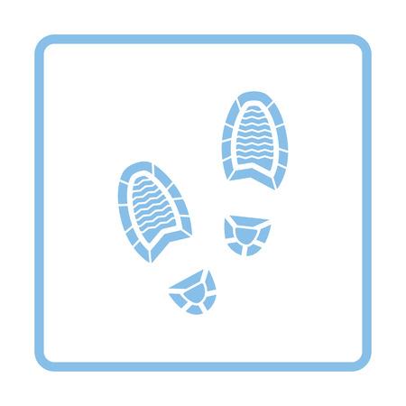 theft proof: Man footprint icon. Blue frame design. Vector illustration. Illustration