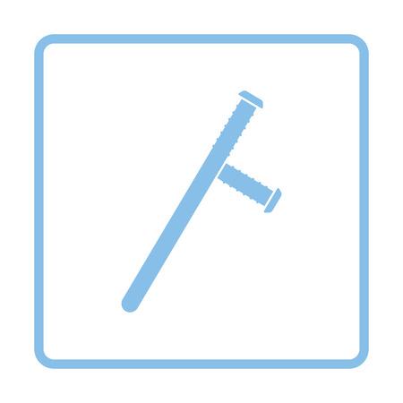 brute: Police baton icon. Blue frame design. Vector illustration.