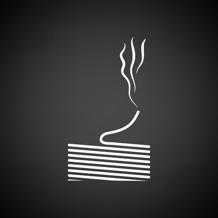 soldered: Solder wire icon. Black background with white. Vector illustration.