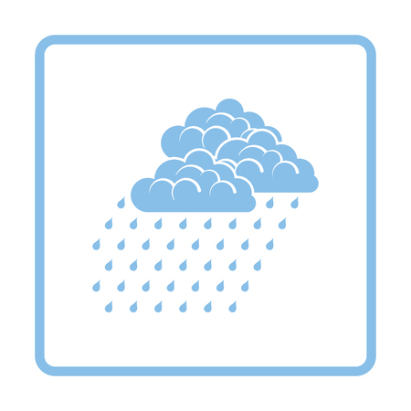 humidity: Rainfall icon. Blue frame design. Vector illustration.