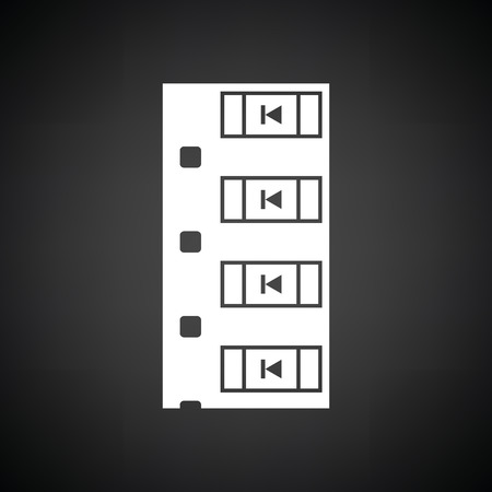 diode: Diode smd component tape icon. Black background with white. Vector illustration.
