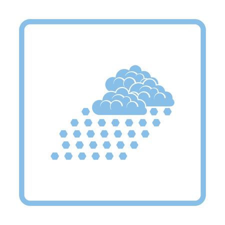 hailstorm: Hail icon. Blue frame design. Vector illustration. Illustration
