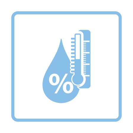 湿度のアイコン。ブルー フレーム デザイン。ベクトルの図。