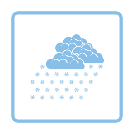 snowfall: Snowfall icon. Blue frame design. Vector illustration. Illustration