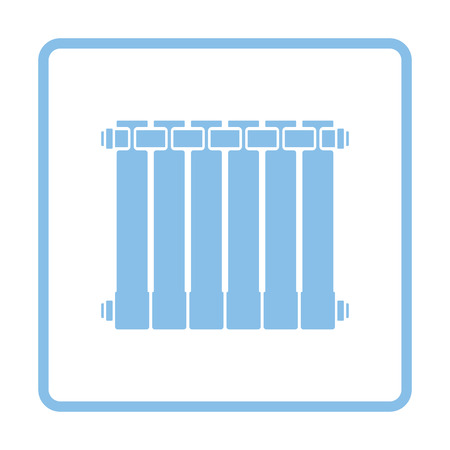 thawing: Icon of Radiator. Blue frame design. Vector illustration. Illustration