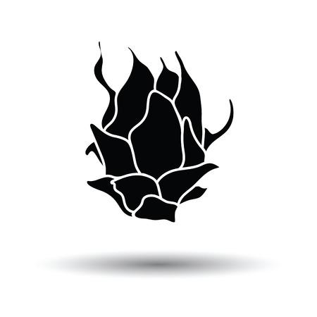 Dragon fruit icon. Witte achtergrond met schaduw ontwerp. Vector illustratie.