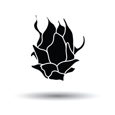 Dragon fruit icon. White background with shadow design. Vector illustration.