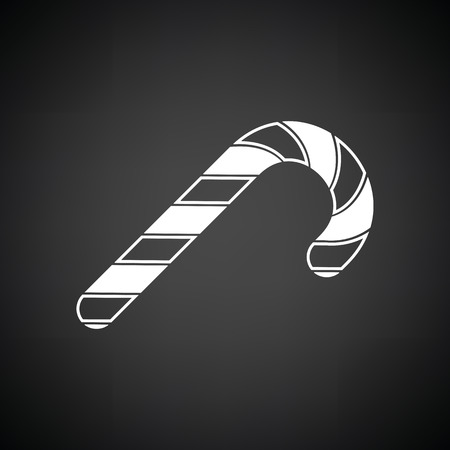 Stick candy icon. Black background with white. Vector illustration. Illustration