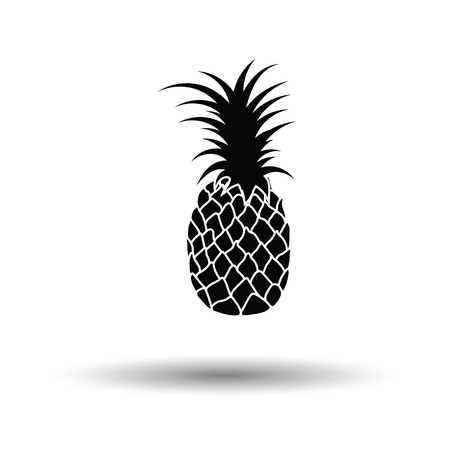 genus: Pineapple icon. White background with shadow design. Vector illustration.