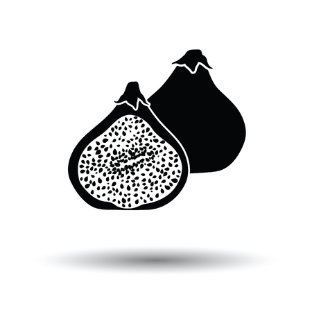 fig tree: Fig fruit icon. White background with shadow design. Vector illustration.