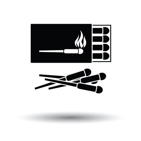 match box: Match box  icon. White background with shadow design. Vector illustration. Illustration