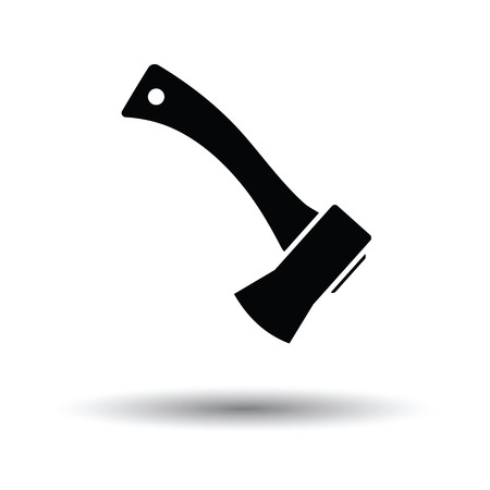 Camping axe  icon. White background with shadow design. Vector illustration.