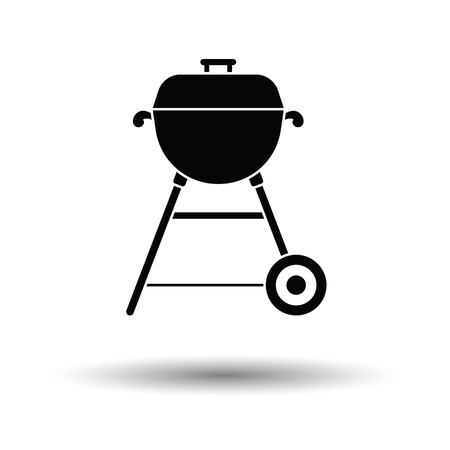 Barbecue  icon. White background with shadow design. Vector illustration. Illustration