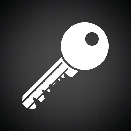 function key: Key icon. Black background with white. Vector illustration.