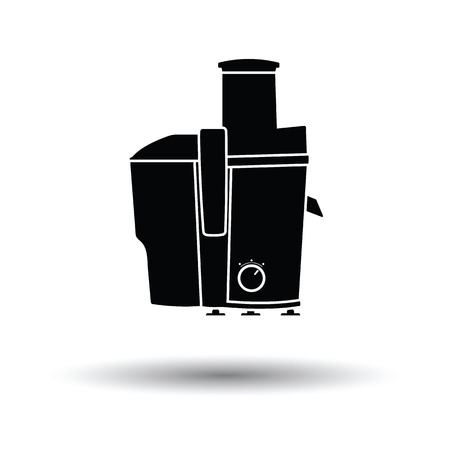 juice extractor: Juicer machine icon. White background with shadow design. Vector illustration.