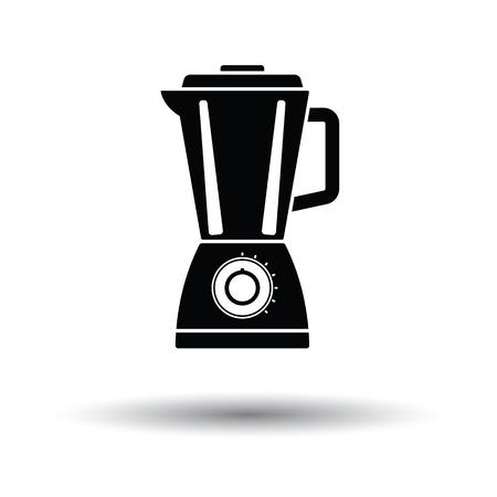 Kitchen blender icon. White background with shadow design. Vector illustration.