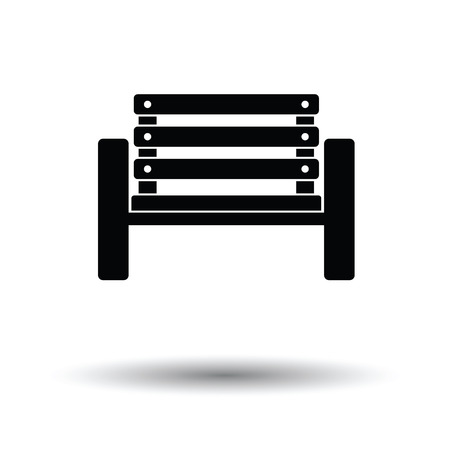 sidelit: Tennis player bench icon. White background with shadow design. Vector illustration.