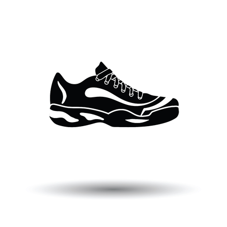 runner up: Tennis sneaker icon. White background with shadow design. Vector illustration. Illustration