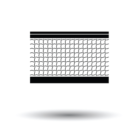 synthetic court: Tennis net icon. White background with shadow design. Vector illustration.