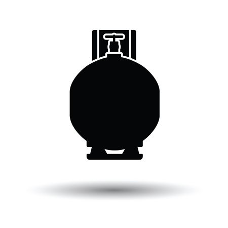 compressed gas: Gas cylinder icon. White background with shadow design. Vector illustration. Illustration