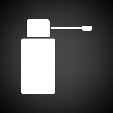 necessity: Inhalator icon. Black background with white. Vector illustration.