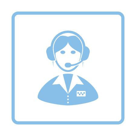 dispatcher: operator icon. Blue frame design. Vector illustration. Illustration