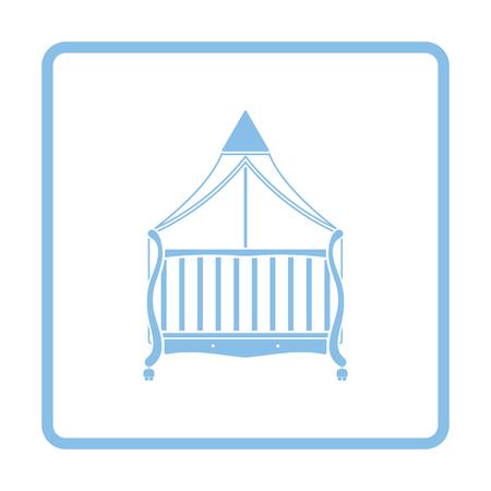cradle: Cradle icon. Blue frame design. Vector illustration.