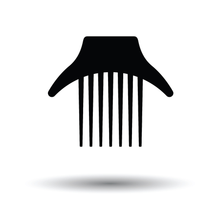 Comb icon. White background with shadow design. Vector illustration. Illustration