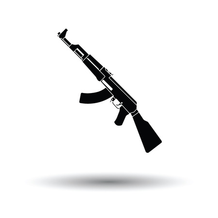 Russian weapon rifle icon. White background with shadow design. Vector illustration.