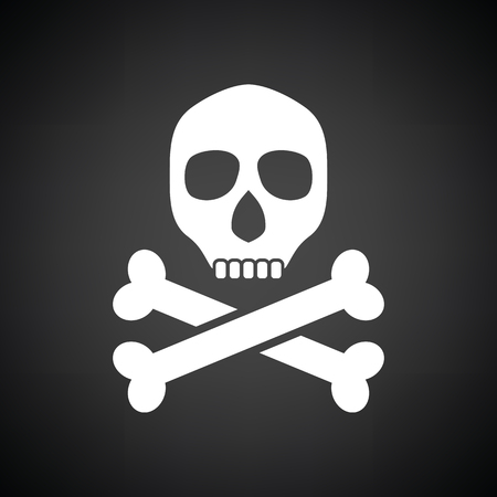 poison sign: Poison sign icon. Black background with white. Vector illustration.