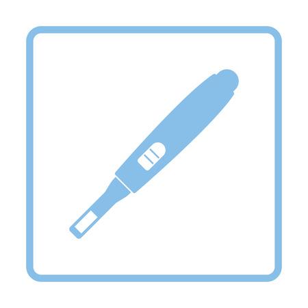 ovulate: Pregnancy test icon. Blue frame design. Vector illustration.