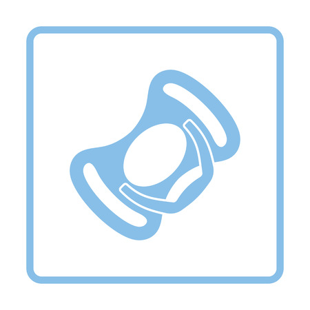 soother: Baby soother icon. Blue frame design. Vector illustration.