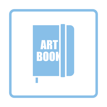 blue book: Sketch book icon. Blue frame design. Vector illustration.