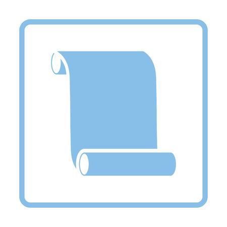 announcement: Canvas scroll icon. Blue frame design. Vector illustration. Illustration