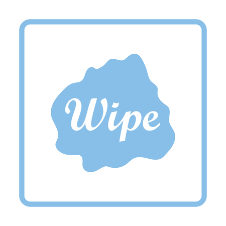 rag: Wipe cloth icon. Blue frame design. Vector illustration.