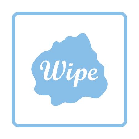 wipe: Wipe cloth icon. Blue frame design. Vector illustration.