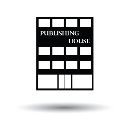issuer: Publishing house icon. White background with shadow design. Vector illustration.