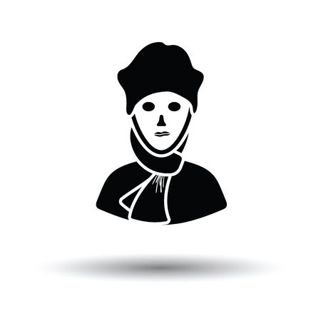 a poet: Poet icon. White background with shadow design. Vector illustration. Illustration