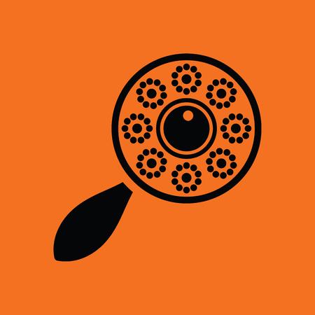 clack: Beanbag icon. Orange background with black. Vector illustration.