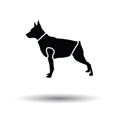 Dog cloth icon. Black background with white. Vector illustration. Illustration