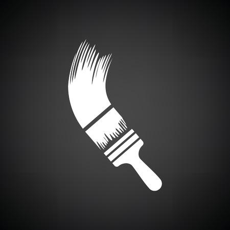 paint background: Paint brush icon. Black background with white. Vector illustration. Illustration