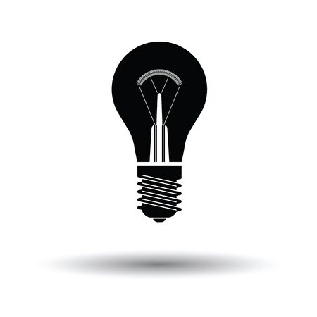 solder: Electric bulb icon. White background with shadow design. Vector illustration.
