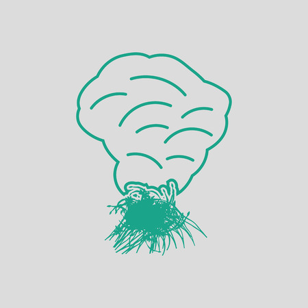 shifting: grass burning icon. Gray background with green. Vector illustration. Illustration